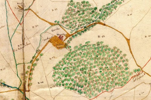 map of the Towneley demesne in 1661